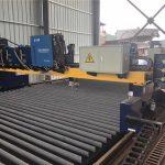 машина за сечење со плазма со двојна погонска cnc cnc, сечење на цврст челик / час за производство на зрак