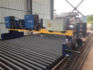 Двоен погон Gantry CNC плазма машина за сечење за сечење на цврст челик H зрак производна линија